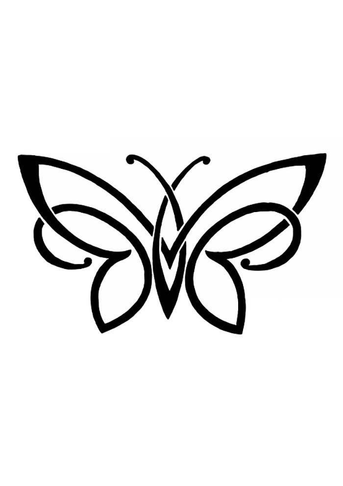 coloriage papillon 24