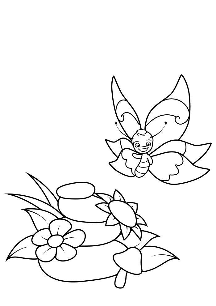 coloriage papillon 25
