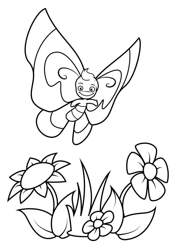 coloriage papillon 28