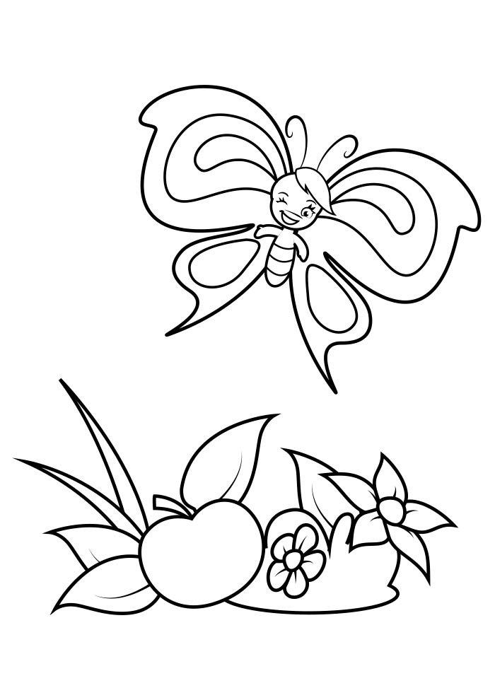 coloriage papillon 34