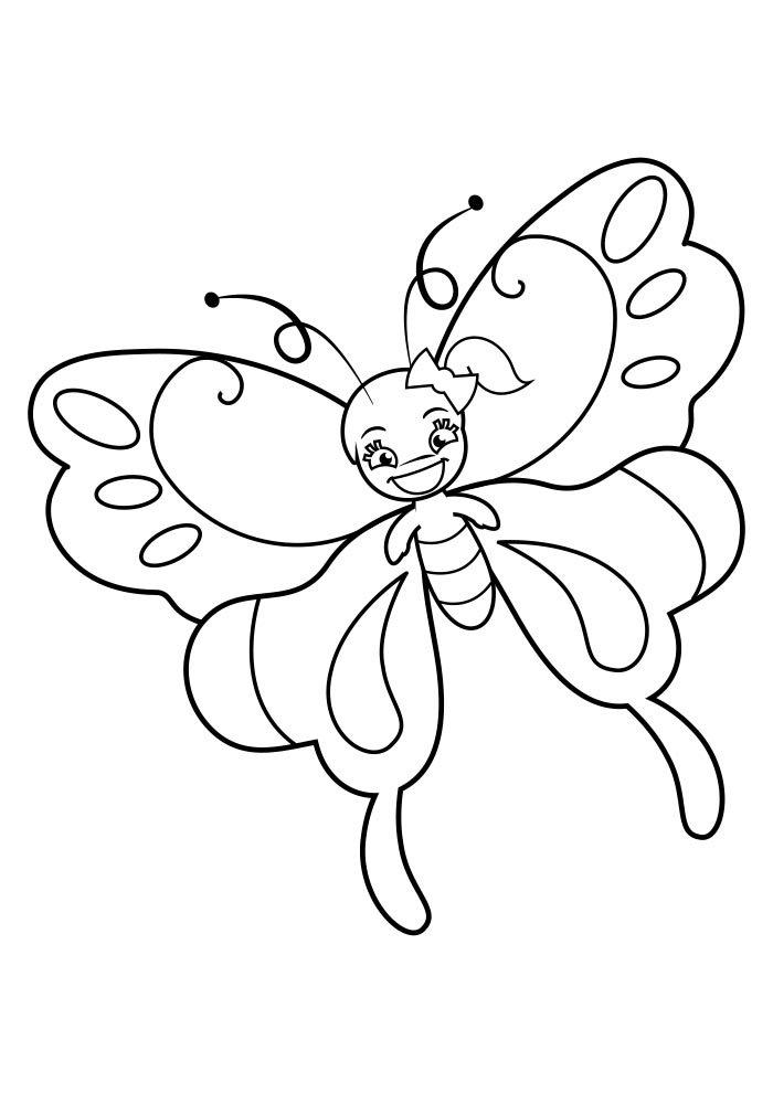 coloriage papillon 38