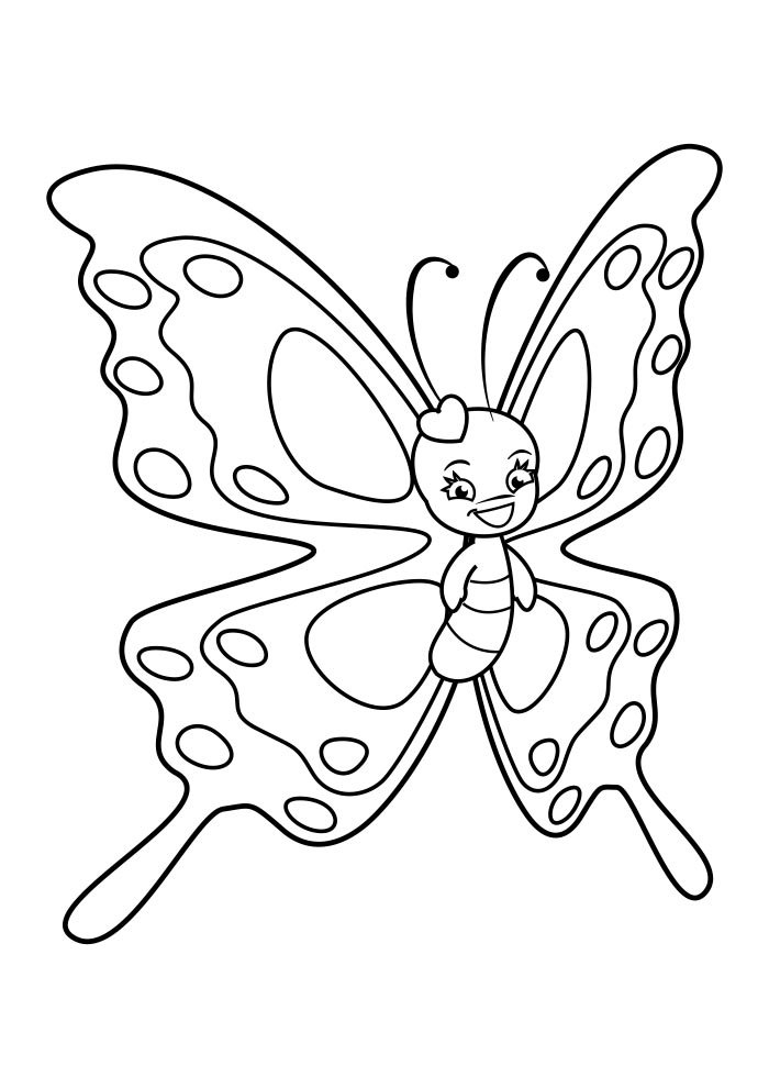 coloriage papillon 42