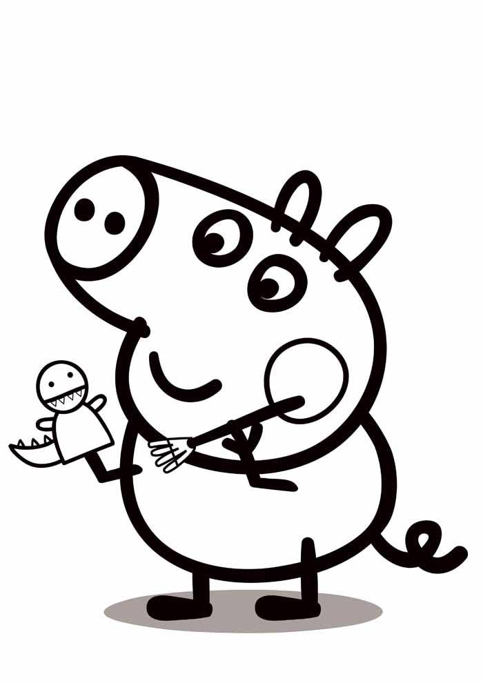 coloriage peppa pig 13