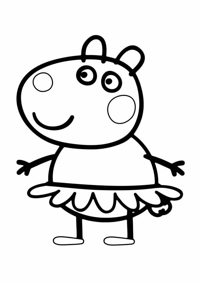 coloriage peppa pig 8