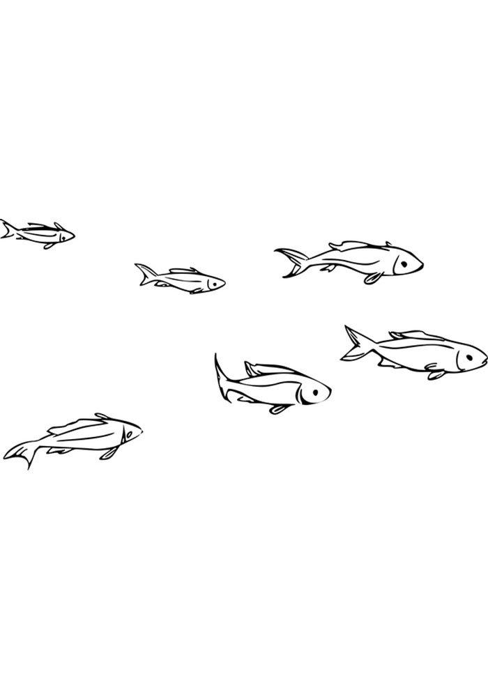 coloriage poisson 25