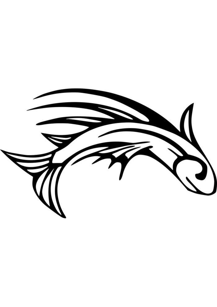 coloriage poisson 5