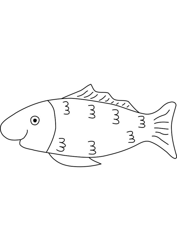 coloriage poisson 9