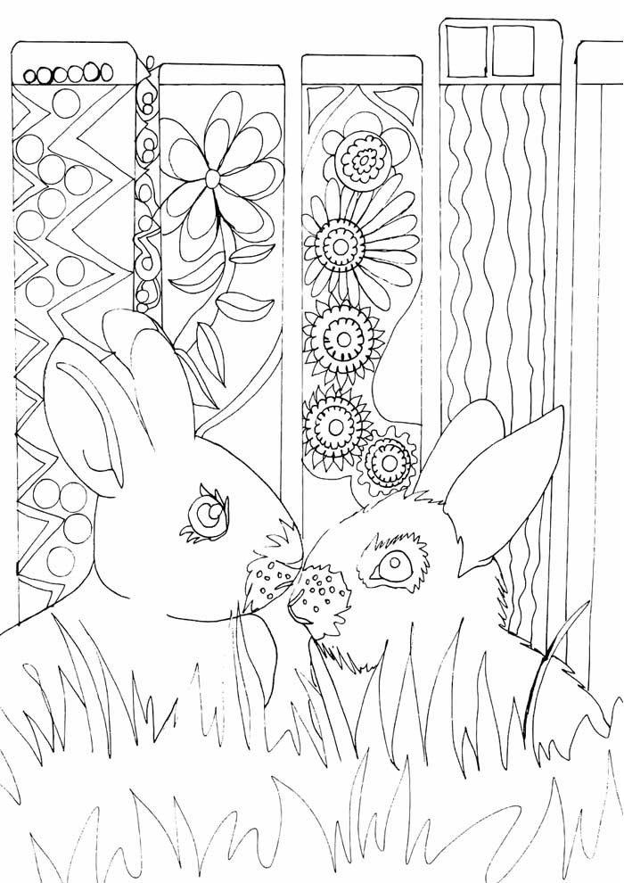 conejo para colorear 17 1