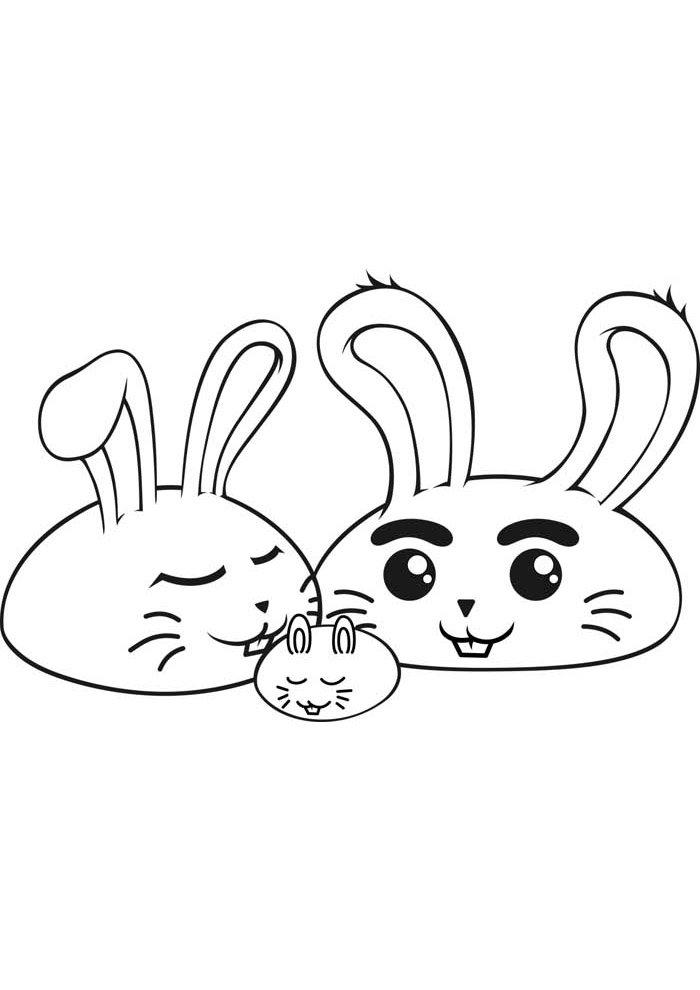 conejo para colorear 21