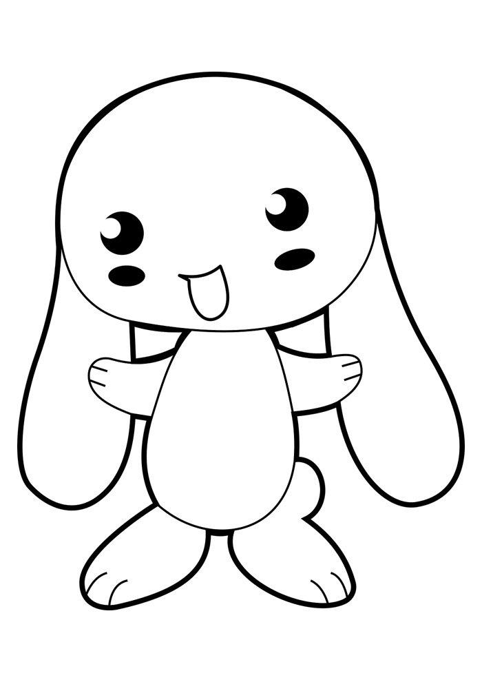conejo para colorear 3 1