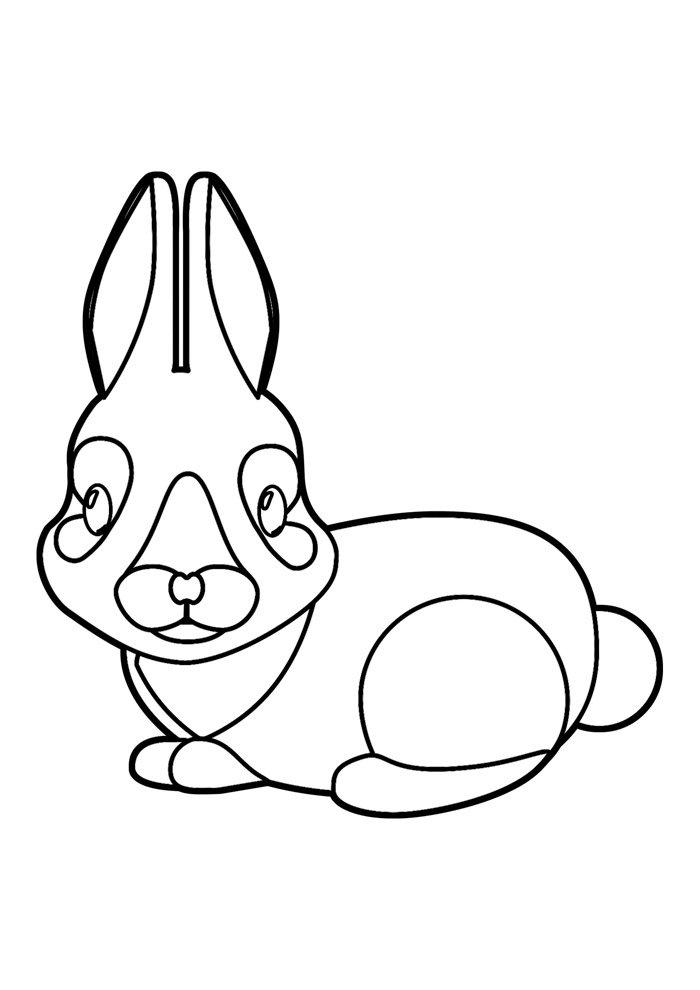 conejo para colorear 32