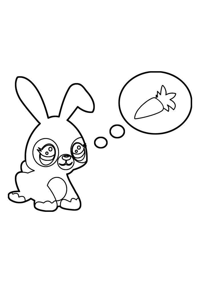 conejo para colorear 34