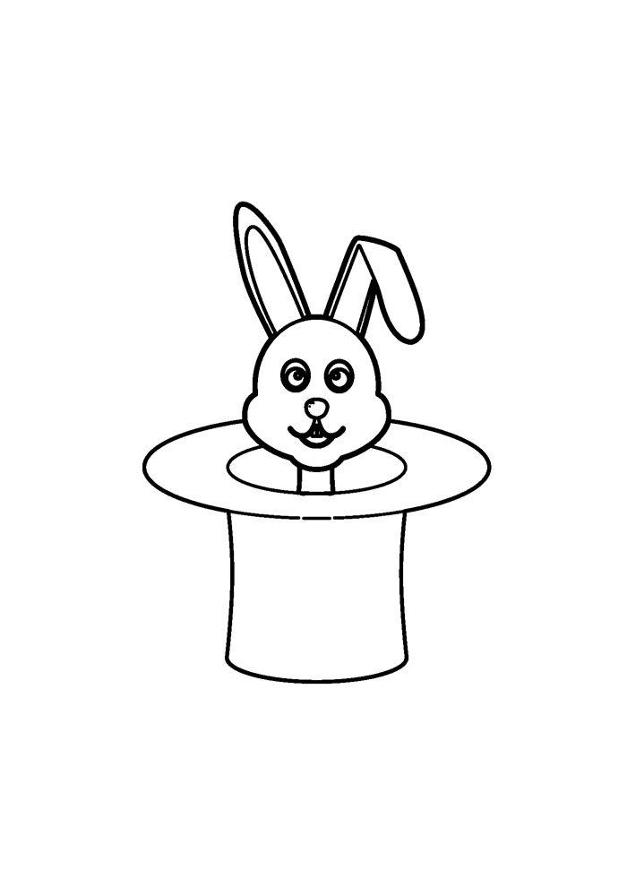 conejo para colorear 37