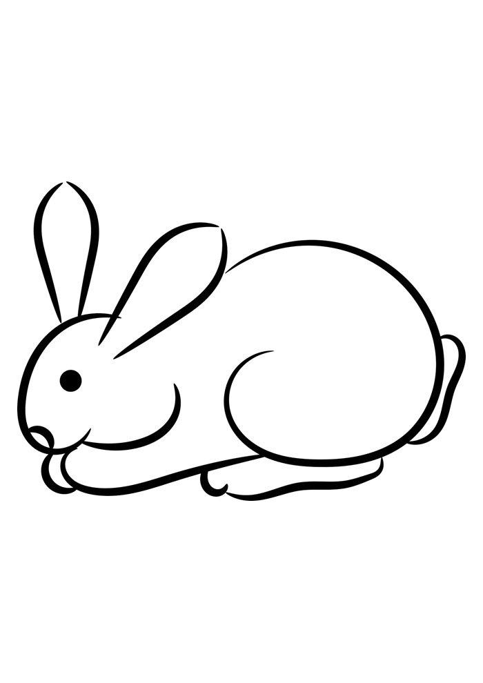 conejo para colorear 39