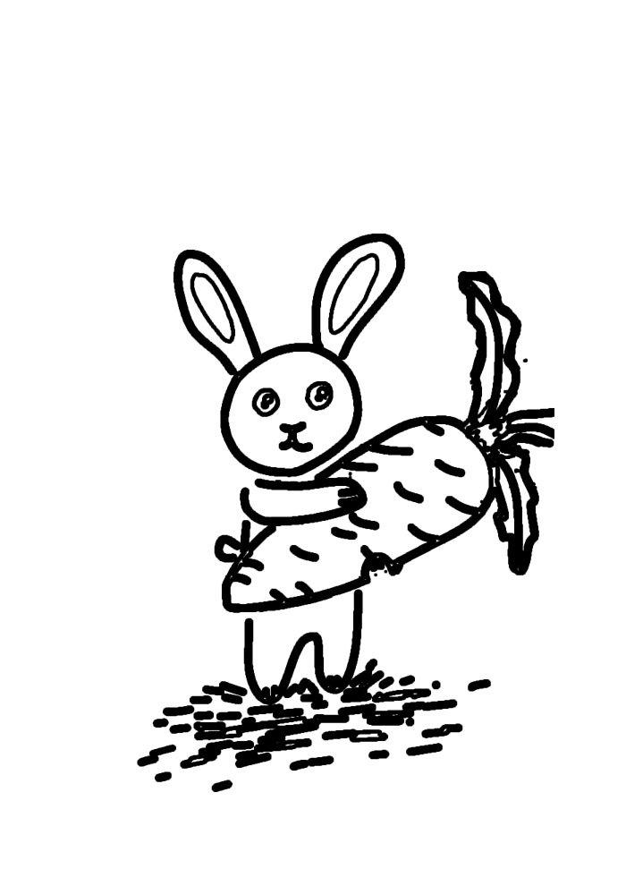 conejo para colorear 45