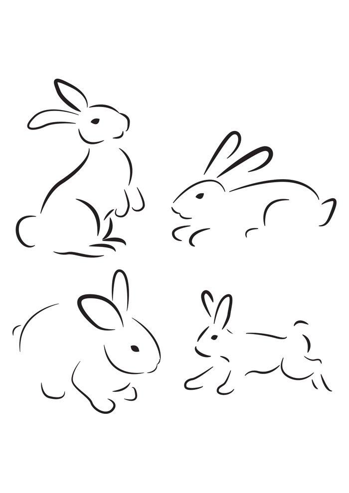 conejo para colorear 46