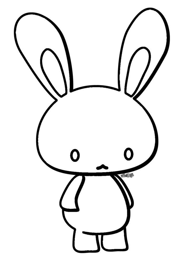 conejo para colorear 47