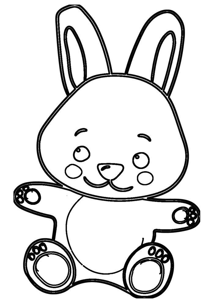 conejo para colorear 48