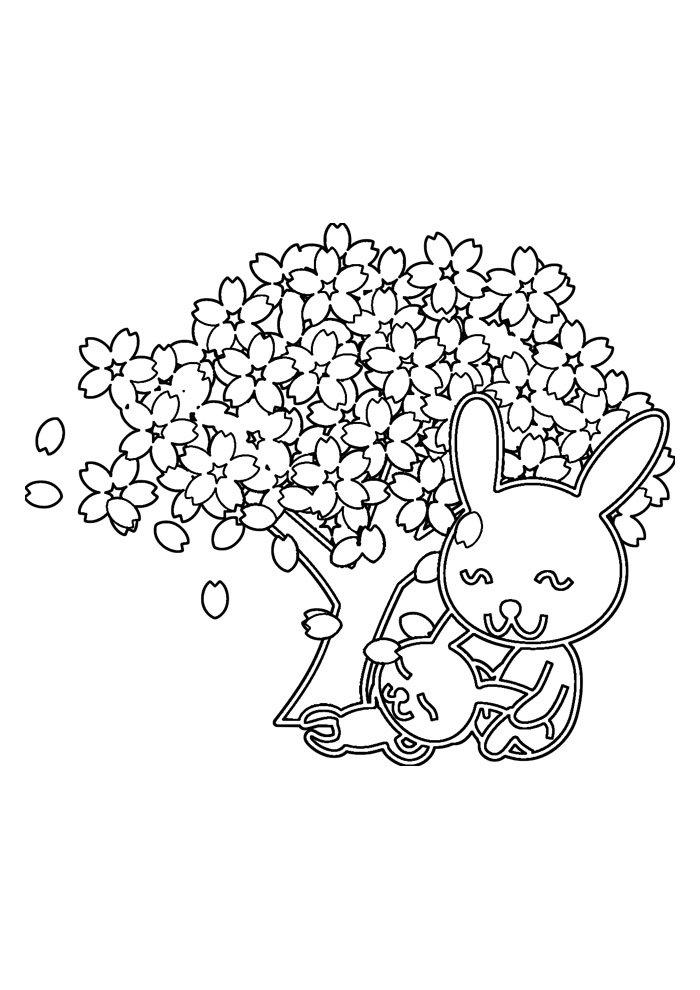 conejo para colorear 53