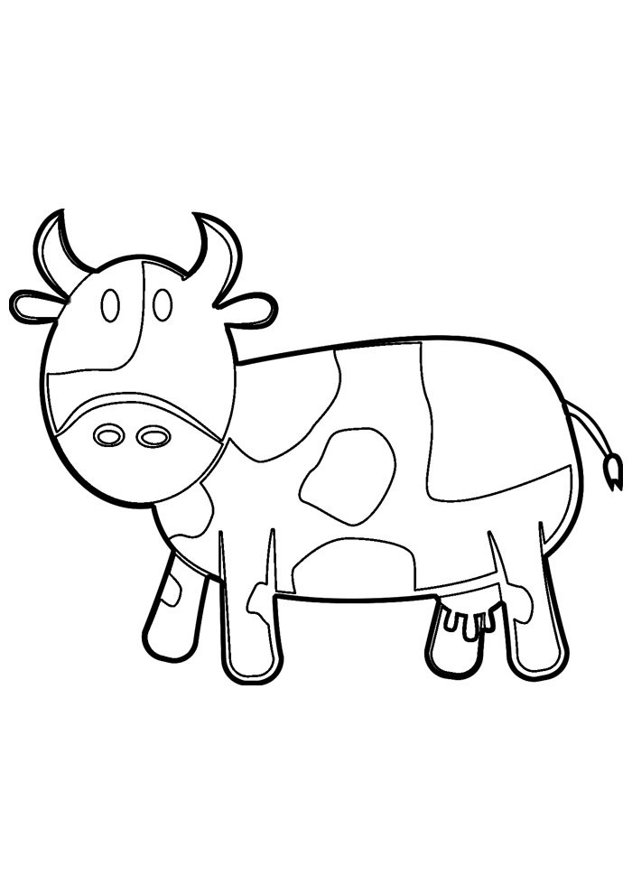 Free Printable Cow Coloring Pages For Kids | 990x700