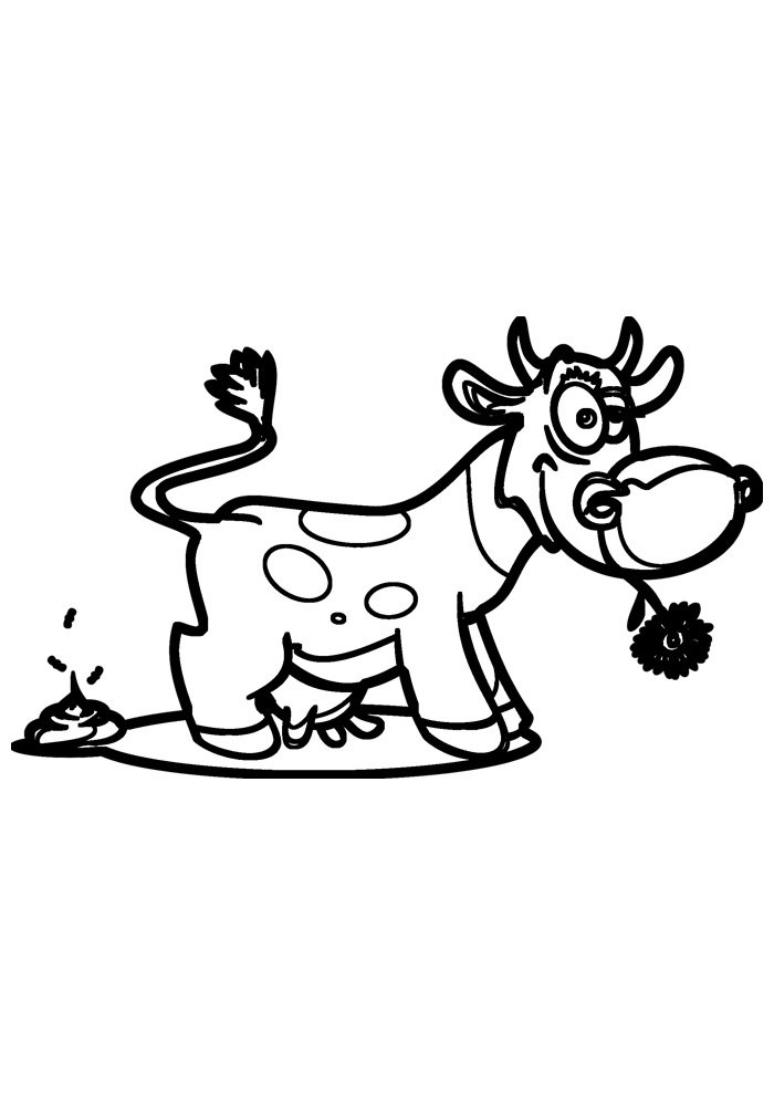 cow coloring page 11