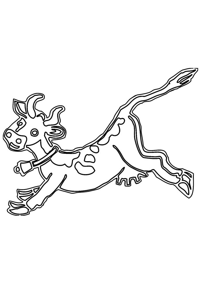 cow coloring page 14