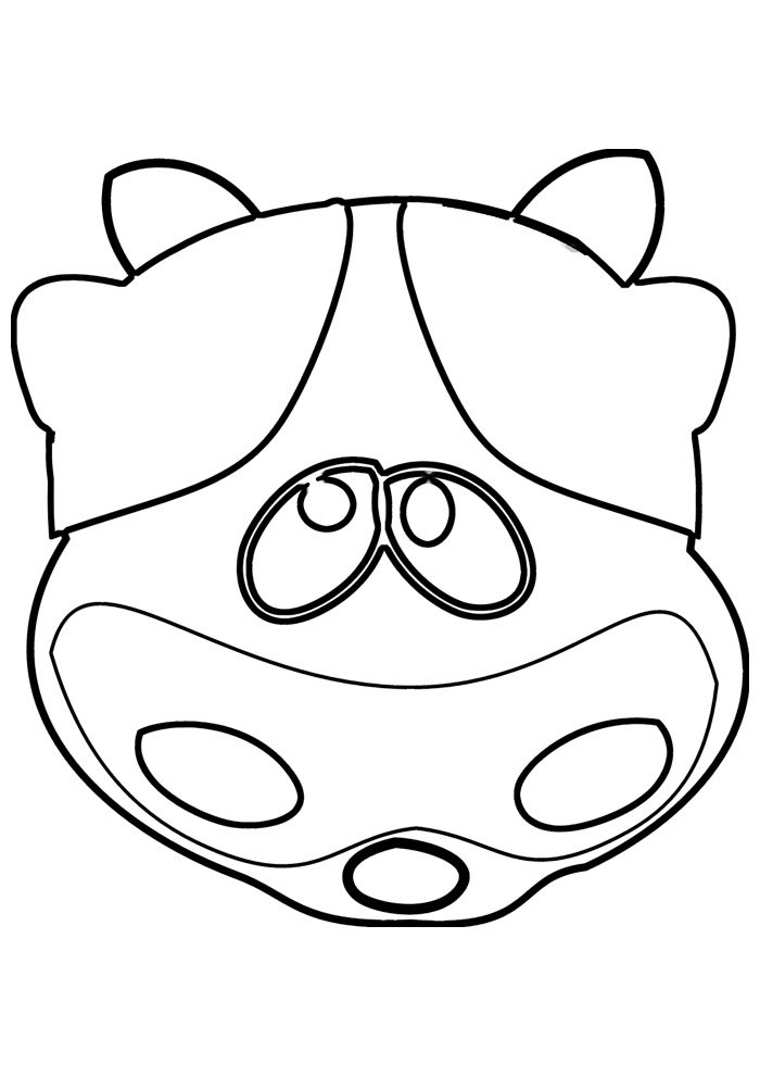 cow coloring page 15