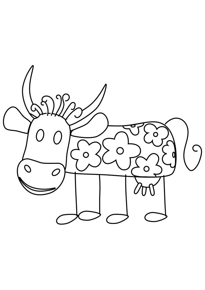 cow coloring page 16