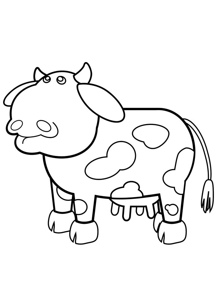 cow coloring page 17