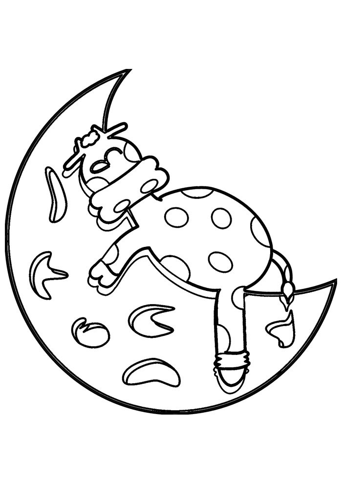 cow coloring page 19