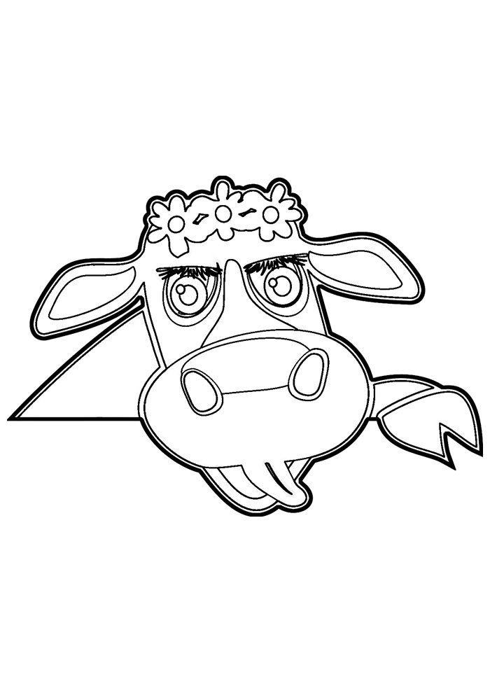 cow coloring page 2