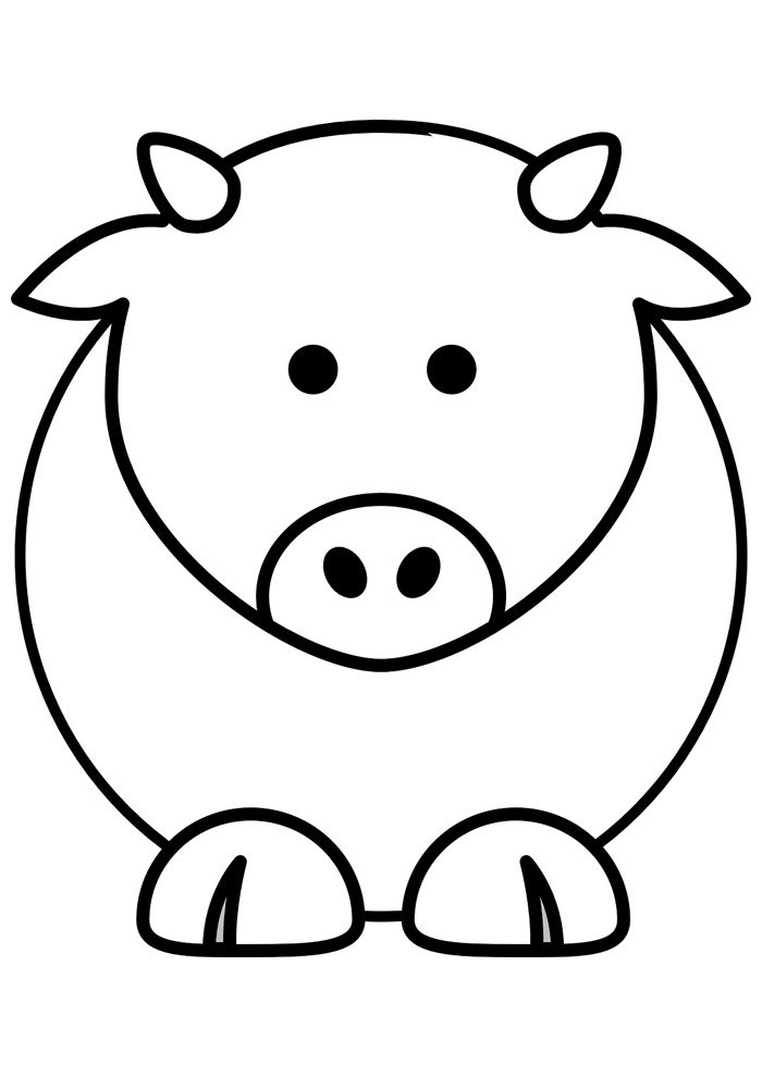 cow coloring page 20