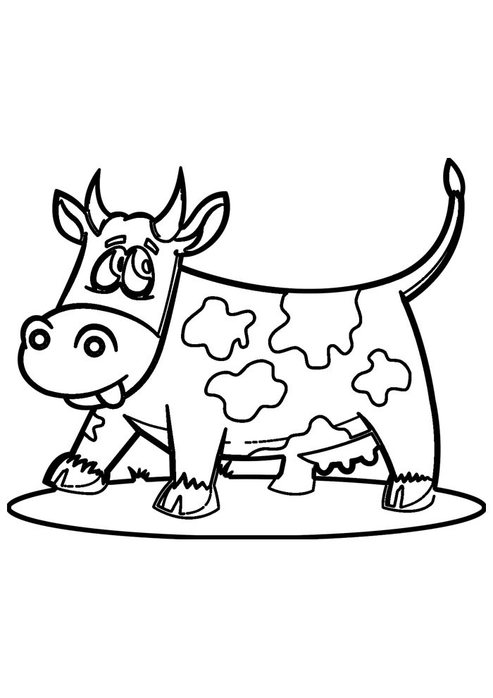 cow coloring page 22