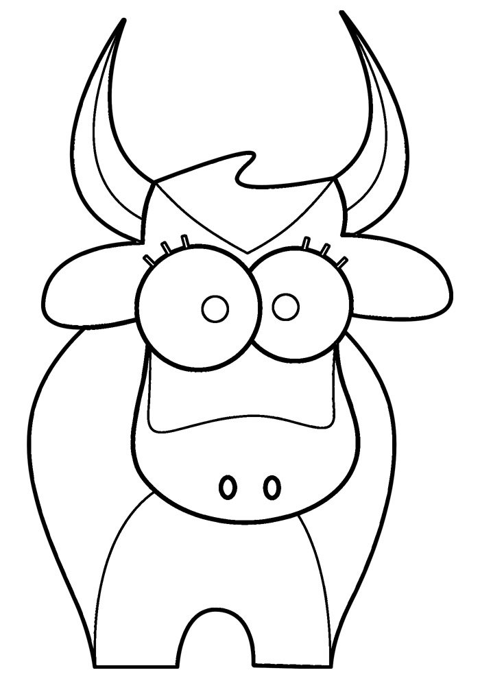 cow coloring page 23