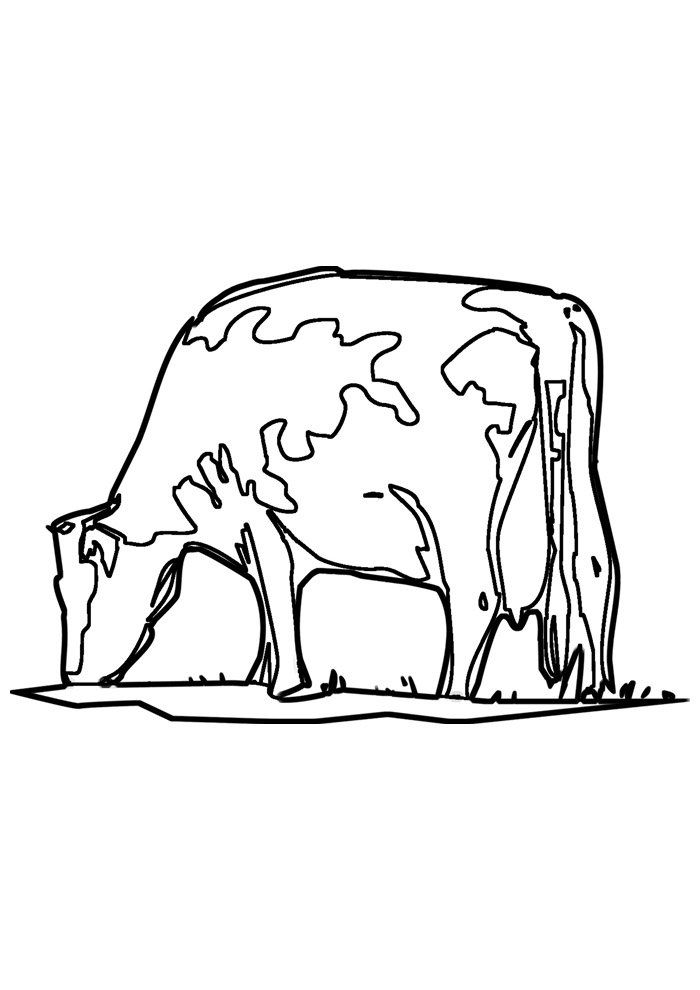 cow coloring page 25