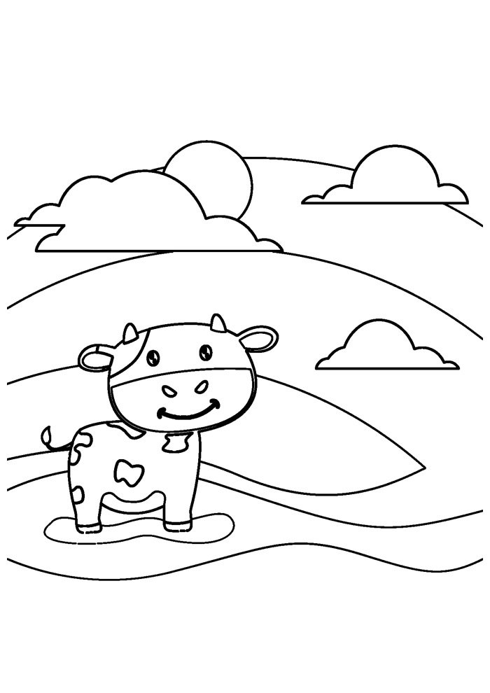 cow coloring page 27