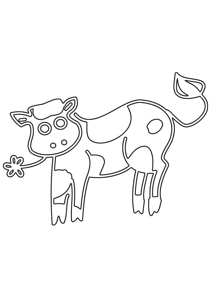 cow coloring page 28