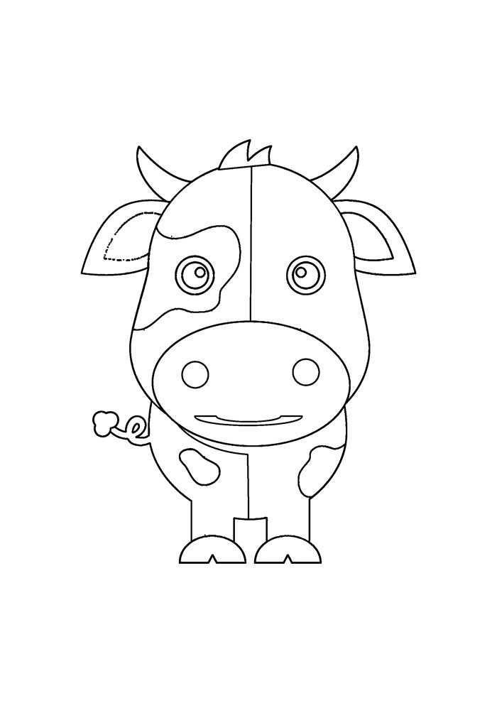 cow coloring page 29