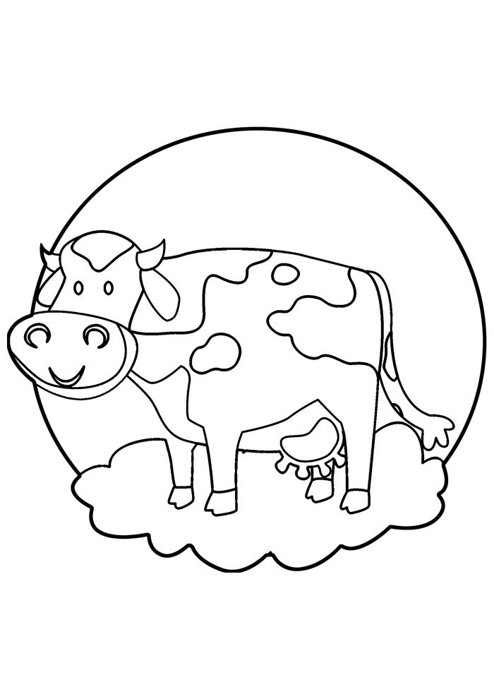 cow coloring page 33