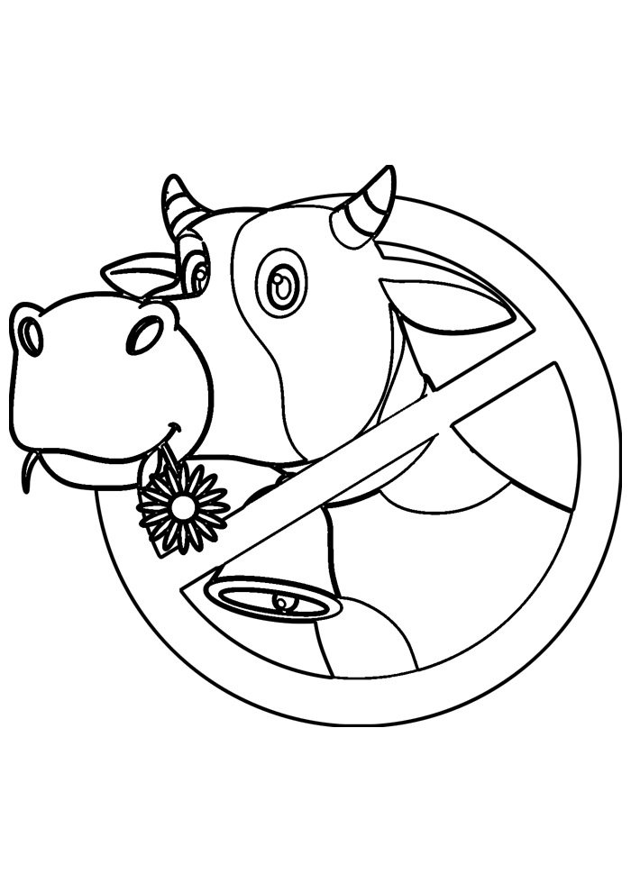 cow coloring page 36