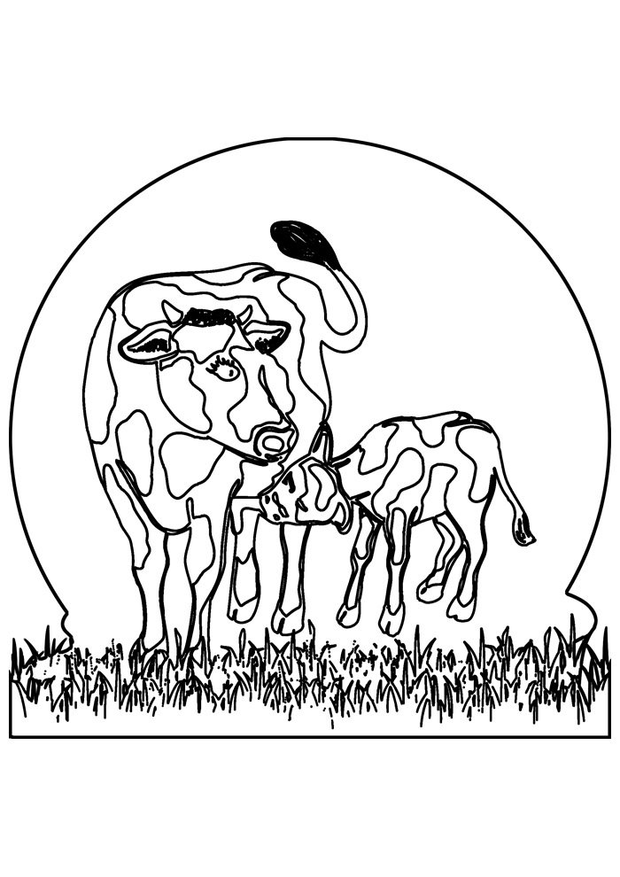 cow coloring page 38