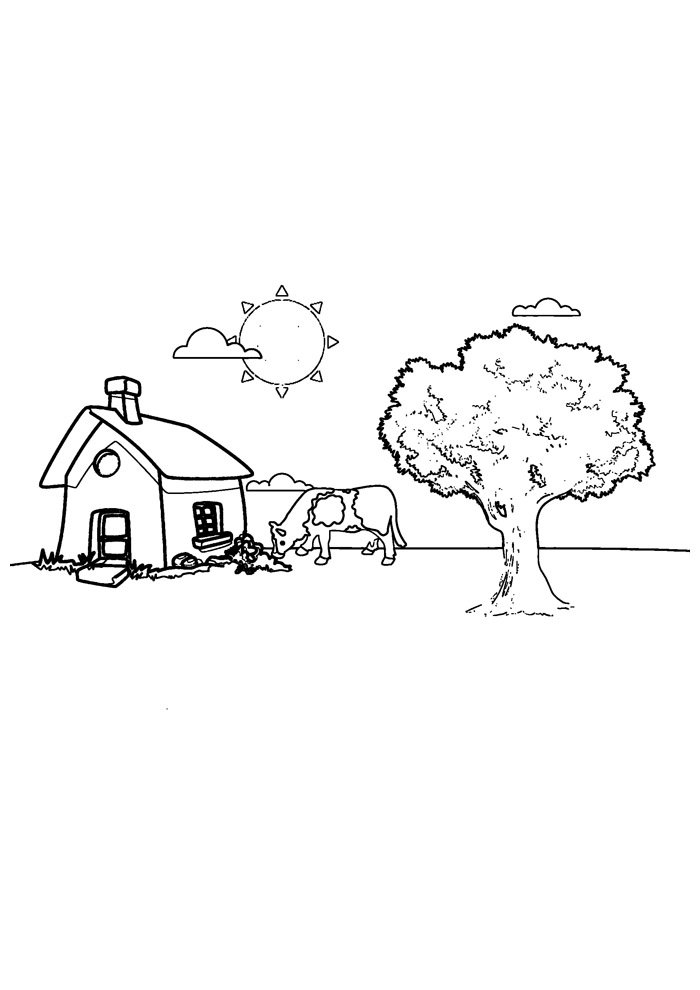 cow coloring page 39