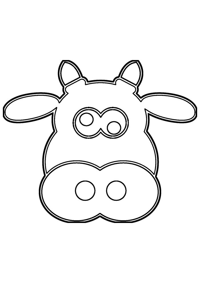 cow coloring page 40
