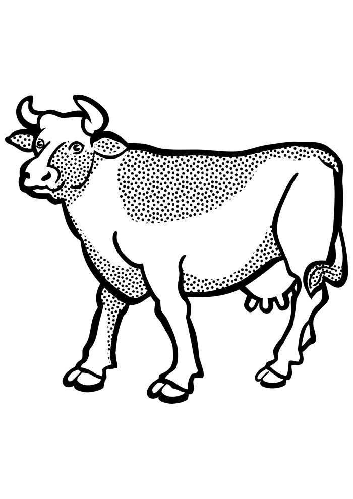 cow coloring page 7