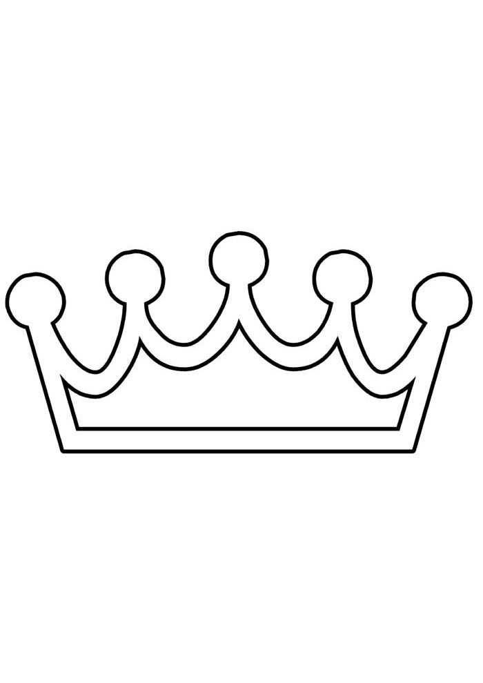 crown coloring page 5