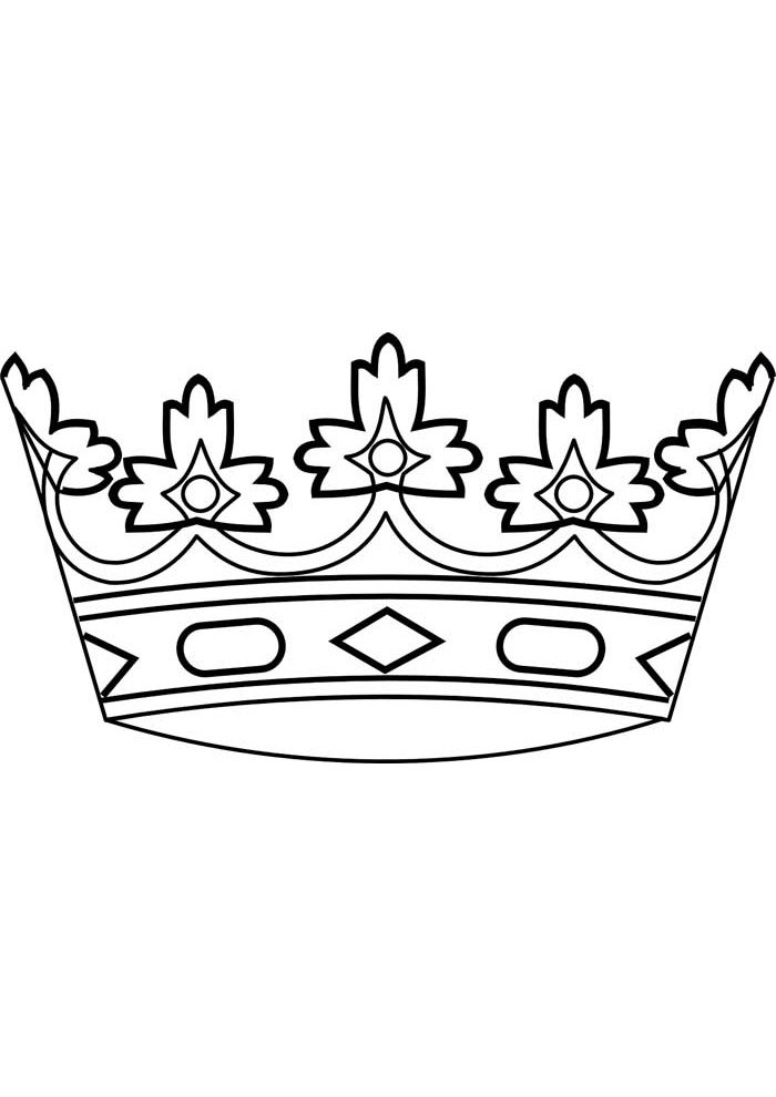 crown coloring page 6
