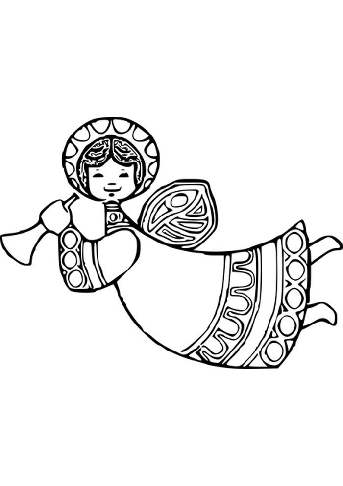 cute angel coloring page