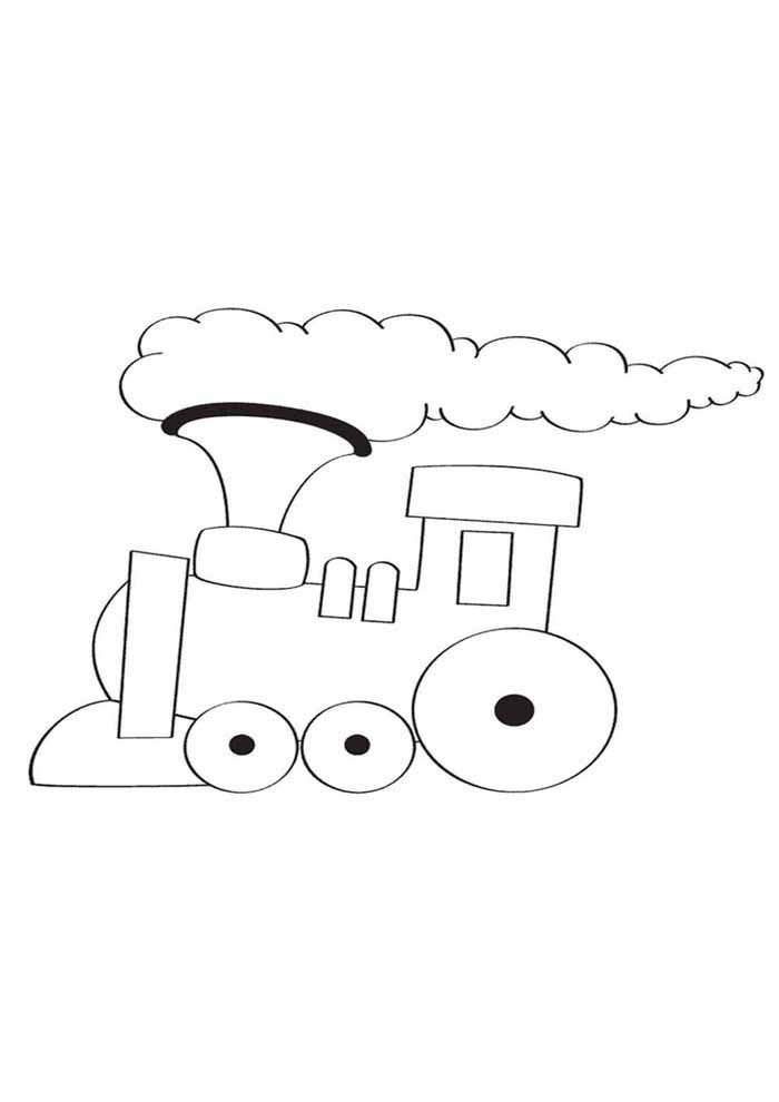 cute train coloring page for kids