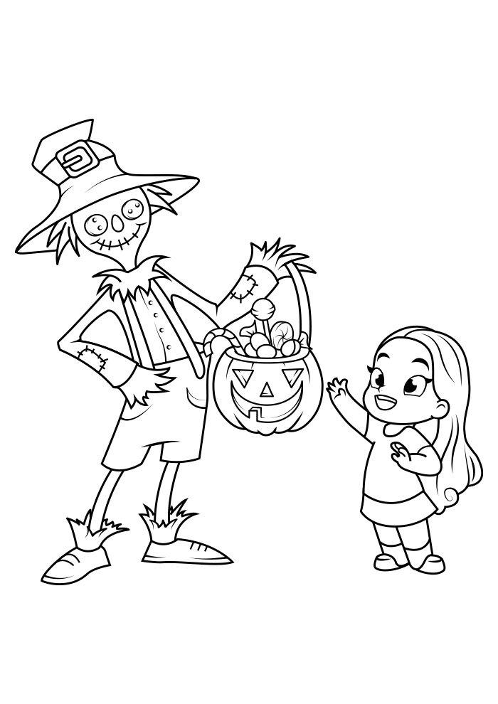 dibujo para colorear de halloween 1