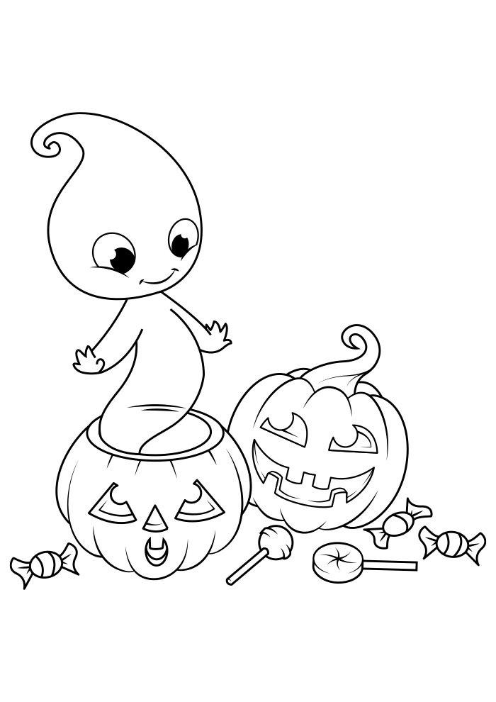 dibujo para colorear de halloween 10
